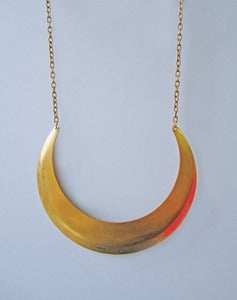 Image of Xena Statement Brass Collar Necklace