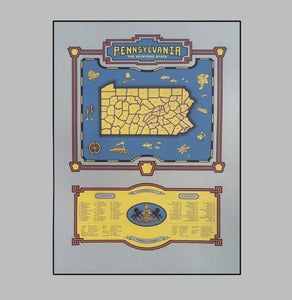 Image of pennsylvania map - gr/bk