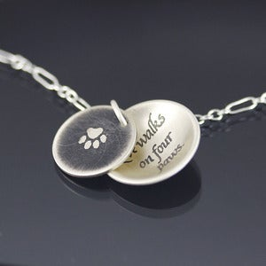 Image of Love Walks on Four Paws Necklace - MADE TO ORDER