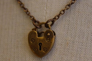 Image of Heart Padlock Necklace