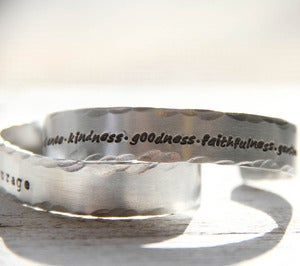 Image of A LONG message cuff bracelet